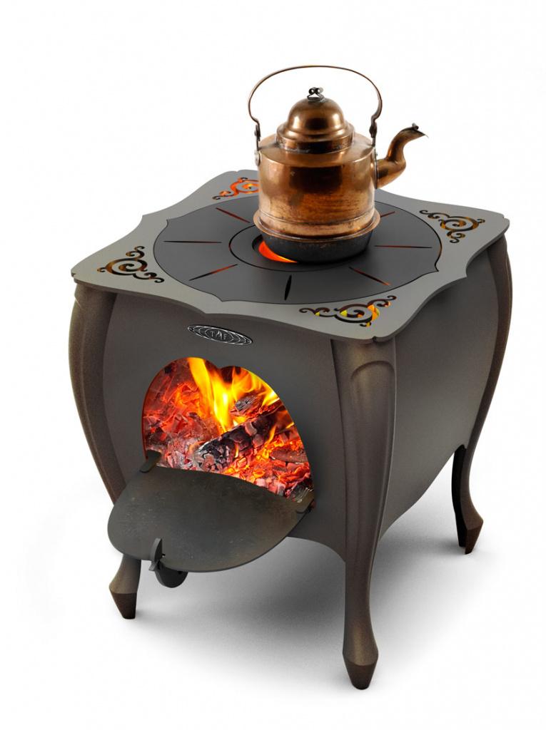 Печь дровяная под казан термофор «зухра»(черная бронза)