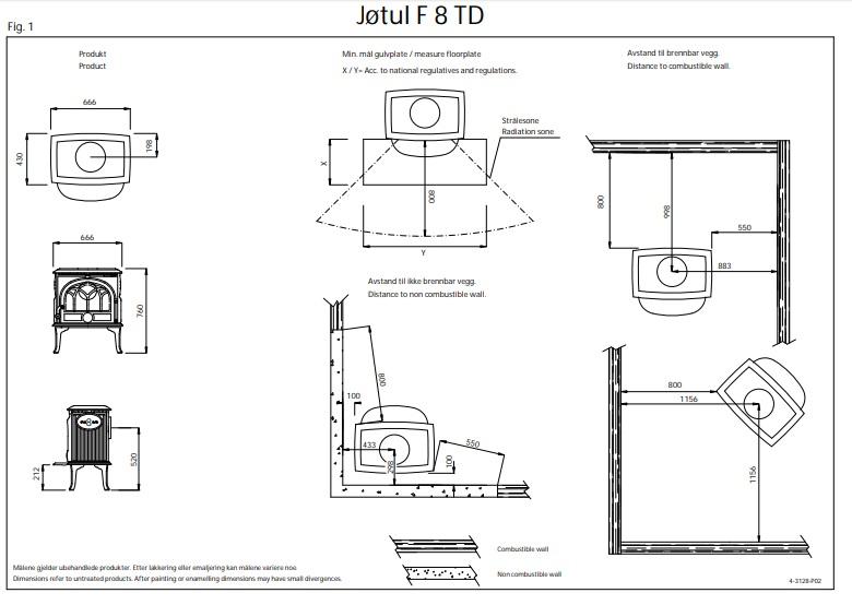 Печь-камин Jotul F 8 TD