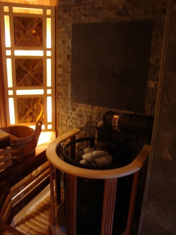 Монтаж Бани с банной печью Harvia
