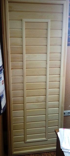 Дверь для бани деревянная 700*1900 (Ольха, липа)