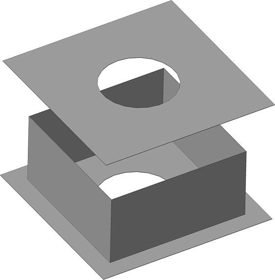Потолочно-проходной узел