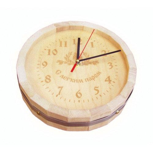 """Часы бочонок с гравировкой """"Люкс"""""""