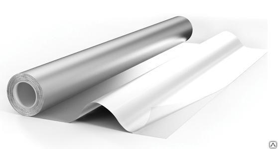 Фольга для бани алюминиевая 100мкм, намотка 12м2