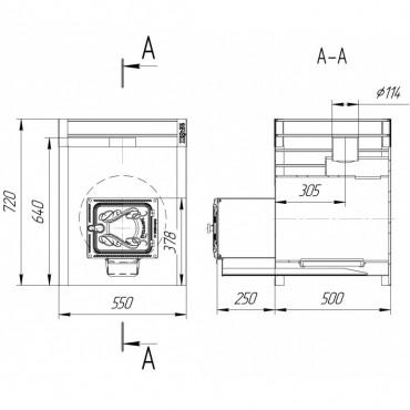 Жара люкс 20 со стеклянной дверкой