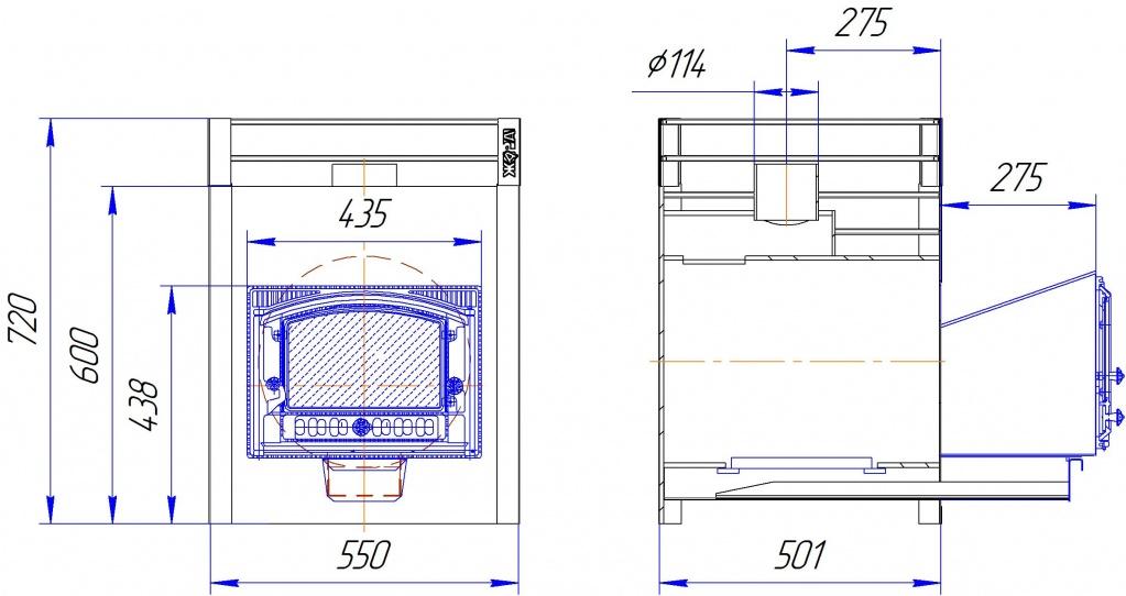 Жара люкс 20 с панорамной дверкой