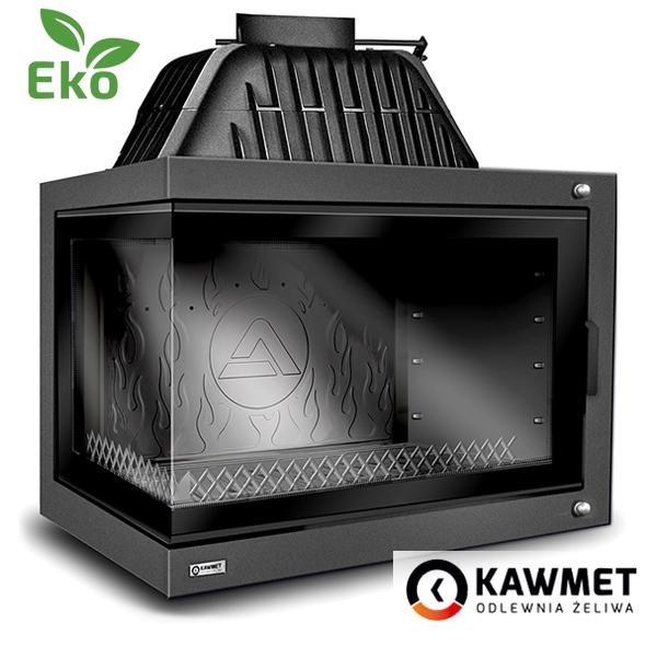Каминная топка KAWMET W17 DEKOR с правым( левым) боковым стеклом (16.1 kW) EKO