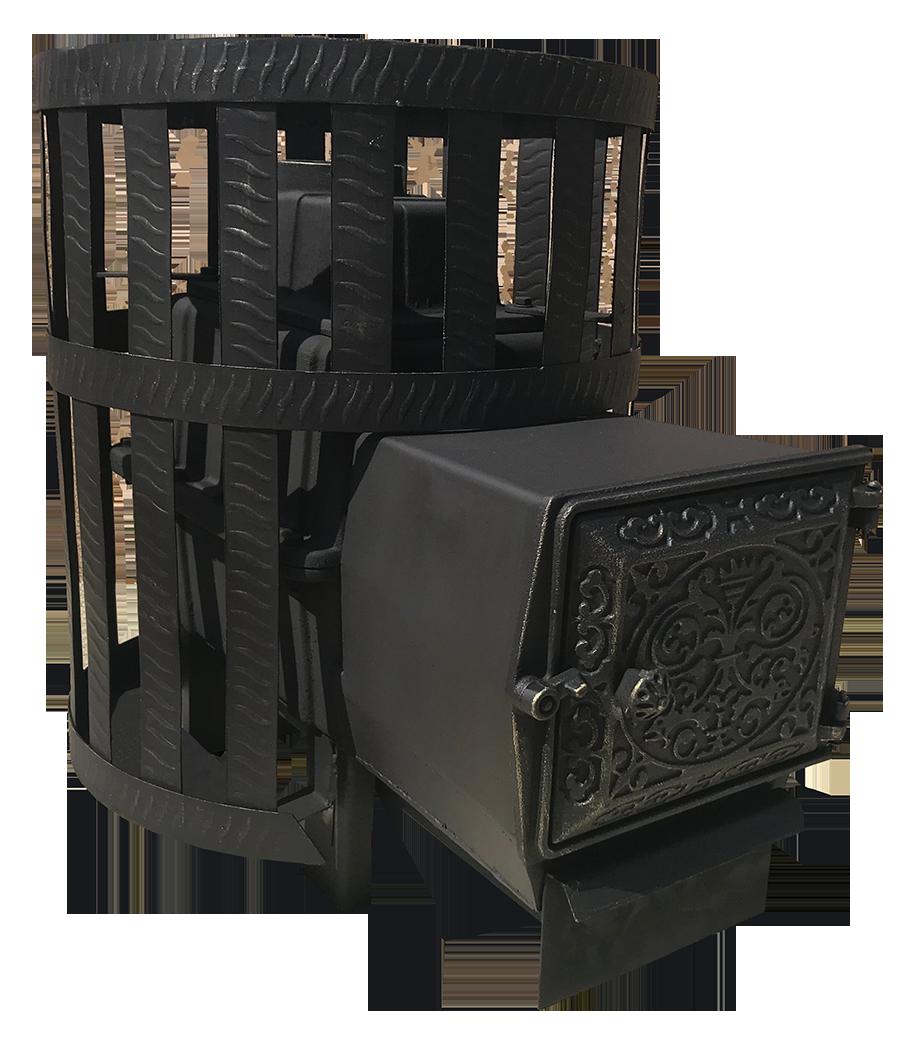 Печь Березка ВОЕВОДА 15 (ДТ-3) Сетчатый кожух