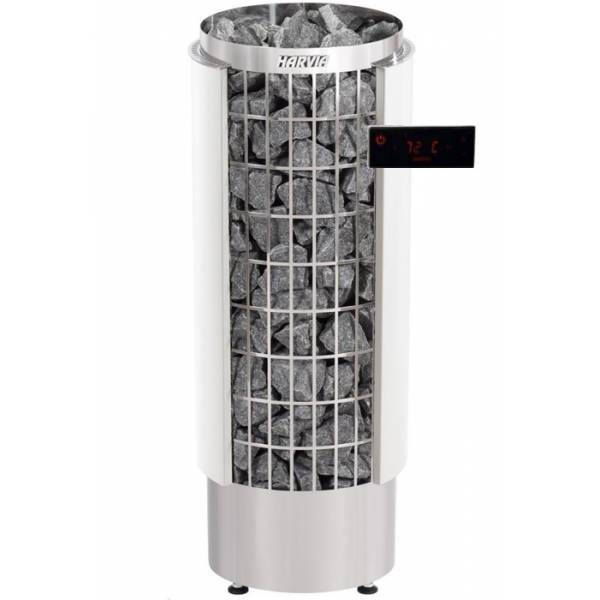 Печь для бани Harvia Cilindro PC110VHEE электрическая, пульт в комплекте, белая